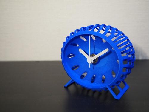 アートな置き時計(ブルー)