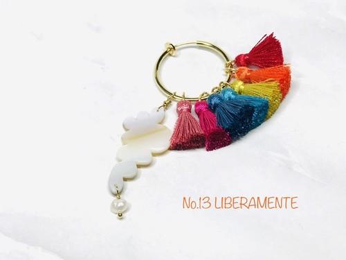 rainbowびわ湖series  びわ湖 pearl & shell earring No.13《LIBERAMENTE》