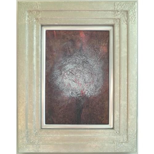「花」 キャンバスにアクリル * 現代アート コンテンポラリーアート 絵画 額縁 内野隆文 takafumiuchino