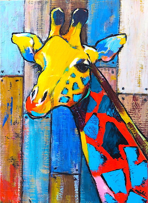 multi wood / giraffe