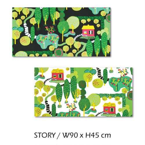 北欧生地 ファブリックパネル 横90 cm x 縦45 cm Kinnamark STORY 受注販売商品 (100923)