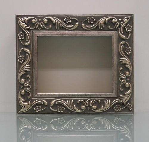 樹脂アンティークおしゃれフレームシルバーD-8201額縁サイズ100mm×80mm窓枠サイズ86mm×66mm 2mmアクリル裏板付 壁掛け用/箱なし