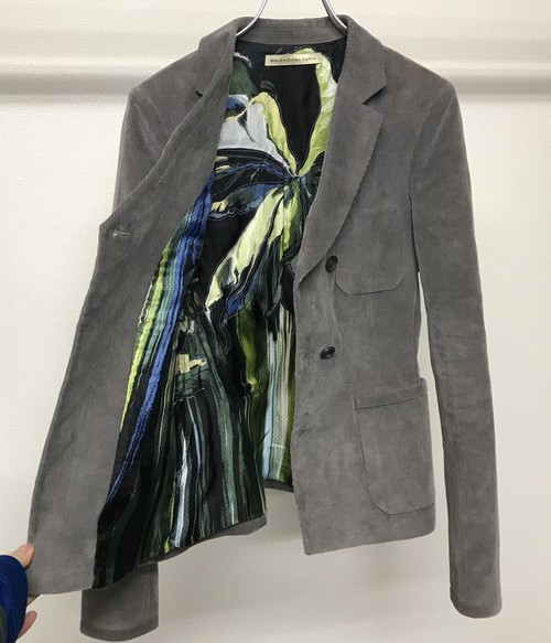 AW2010 BALENCIAGA BY NICOLAS GHESQUIERE INVERTED TRIANGLE CORDS JACKET