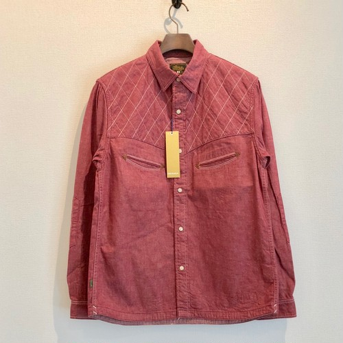 QUILTING WESTERN SHIRTS (RED) / GERUGA