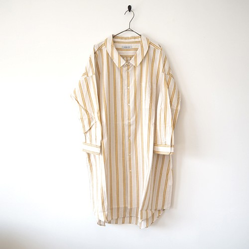 Ordinary fits (オーディナリーフィッツ) LONG BARBER SHIRT YELLOW