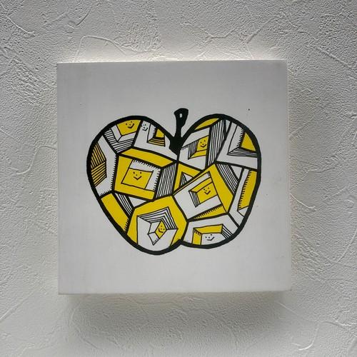 作品no.013 Square illusion キュービックのキイロイさんたち