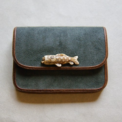 "Card case ""The demon inside the mouth of a carp"" by TOUBOKKA"