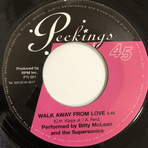 Bitty McLean, The Supersonics ‎– Walk Away From Love【7-20171】