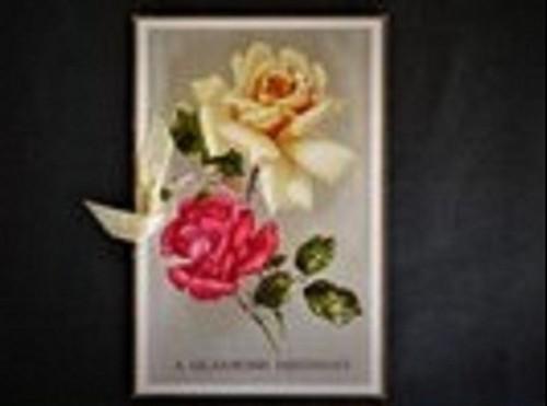 ヴィンテージバースデーカード 英国イギリス 絵葉書 薔薇の花