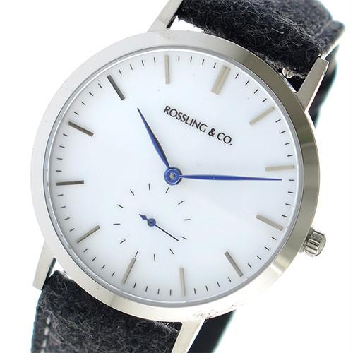 ROSSLING ロスリング MODERN 36MM Glencoe クオーツ ユニセックス 腕時計 RO-003-019 ダークグレー/ホワイト ホワイト