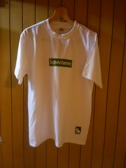 M.A.N.VS.M.A.N  - Superlame T shirt whtxgrn size L