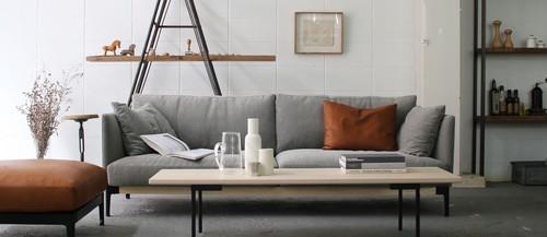 dual sofa 3P fabric - Walnut