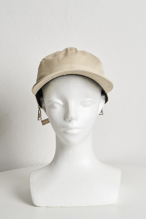 Buckle Belt Zip Cap / Beige [21SS COLLECTION] ※受注終了