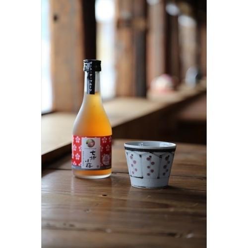 初雪盃×長戸製陶所 七折小梅梅酒×古砥部文花格子蕎麦猪口セット