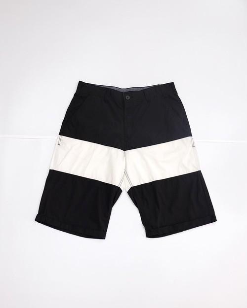 big stripe short pants