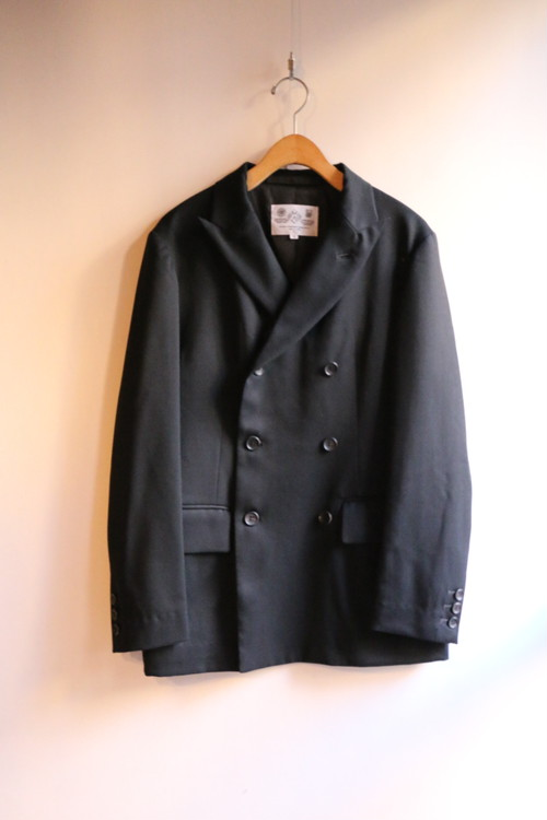 R&D.M.Co-/OLDMAN'S TAILOR W/Brested Jacket Black【お問い合わせ商品】