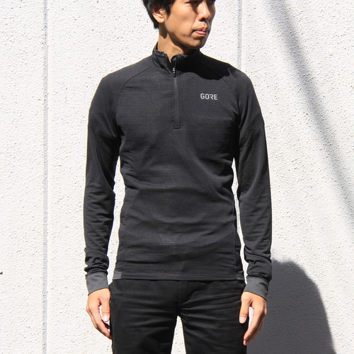 GORE WEAR / THERMO SHIRT LIGHT Men's / ブラック/テラグレイ
