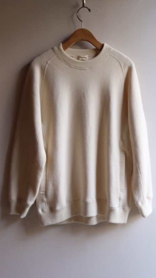 THE HINOKI コットンウール裏起毛 スウェットシャツ NATURAL #TH19W-22