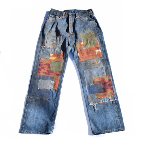 Levi's 503 W28L34 Denim Pants Handmade Custom