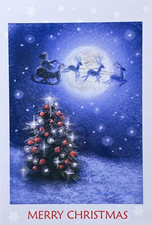 クリスマスカード(ツリーサンタ)