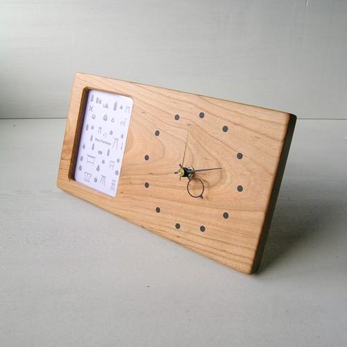 木の時計&フォトフレーム No76   山桜