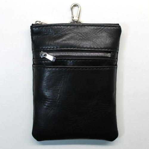 Horsehide Mobile Pouch -BLACK-
