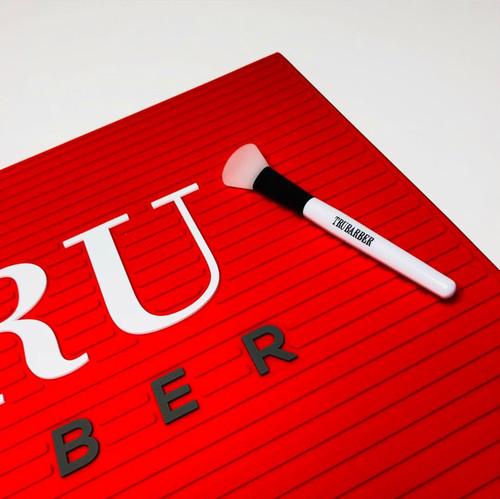 TRU BARBER ワークステーションマット レッドxホワイト