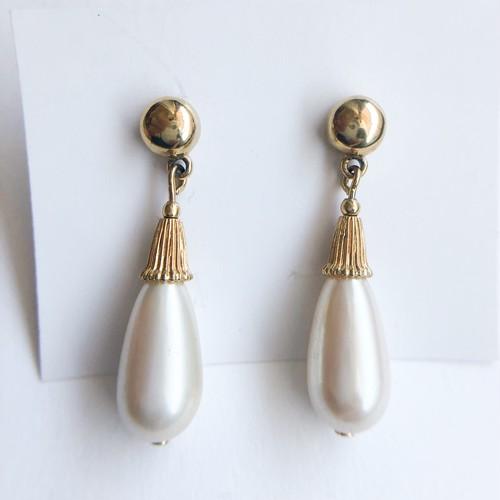 pearl drop pierce[p-597]