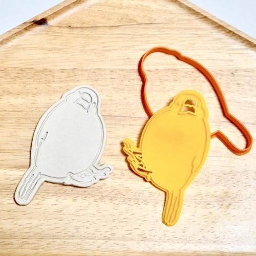 白文鳥B クッキー型 【首傾げバージョン】