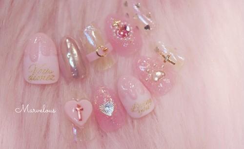 pink Valentine ネイルチップ