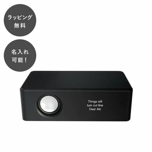 名入れ ボックススピーカー ブラック tu-0438
