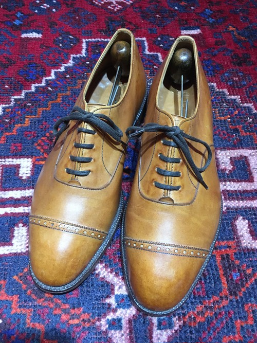 .JOSEPH CHEANEY RENOIR LEATHER QUARTER BLOGUE SHOES HAND BENCHED IN ENGLAND/ジョセフチーニーレザークォーターブローグシューズ 2000000031477