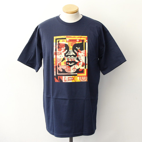 OBEY 3 FACE COLLAGE [BASIC] (NAVY)