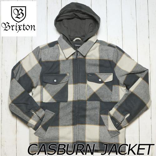 [送料無料] BRIXTON ブリクストン CASBURN JACKET フード付きフランネルジャケット 03165