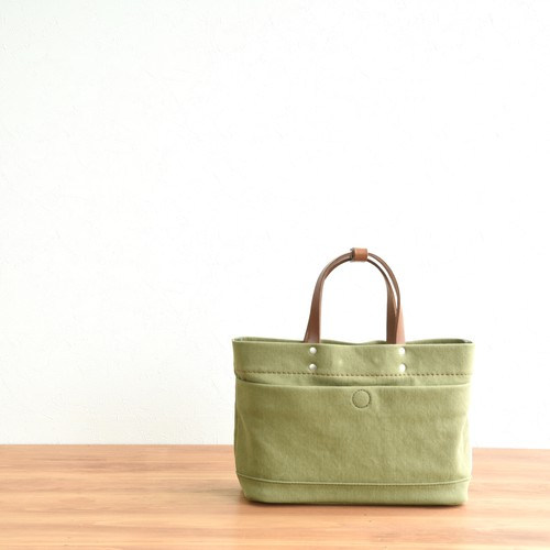 CANVAS MAGAZINE TOTE SS / MOSS GREEN