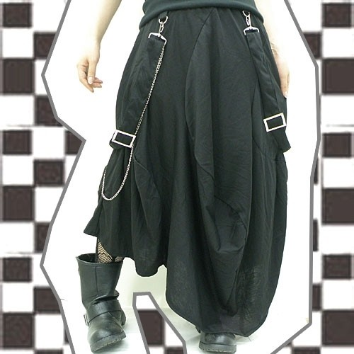 サスペンダー付◆変形スカート