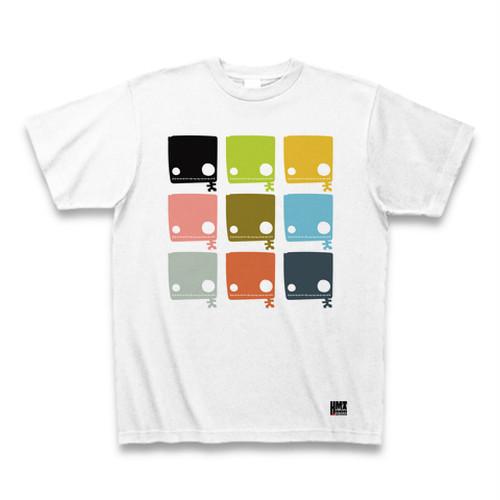 四角い黒ドクロいっぱいTシャツ