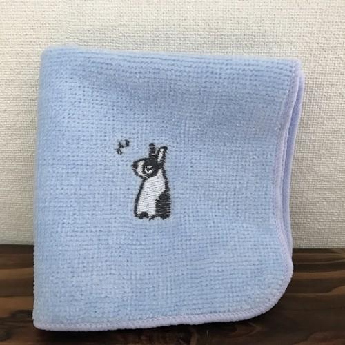 ワンポイント刺繍入りミニタオル