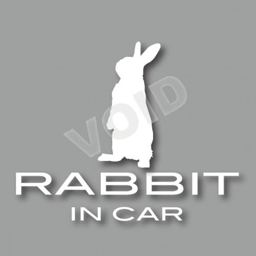 RABBIT うたっちシルエット 車用ステッカー