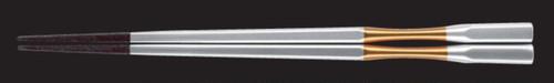 22.5㎝ 杵型多久島箸 メタルシルバー全3種類