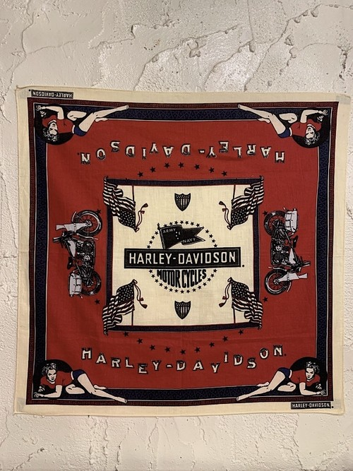 "BANDANA "" ARMY-NAVY FLAG / HARLEY DAVIDSON """