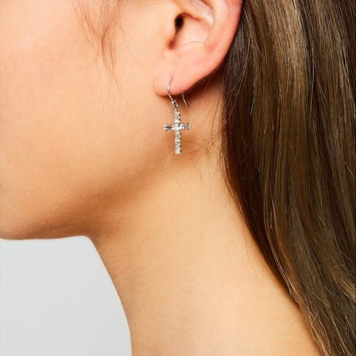 Crystal cross pierce