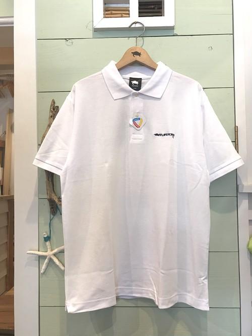 DRY-カノコポロシャツ/WHITE
