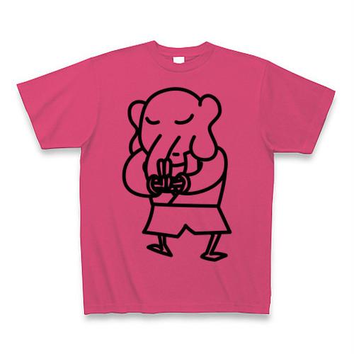 バン象くんTシャツB(ホットピンク)