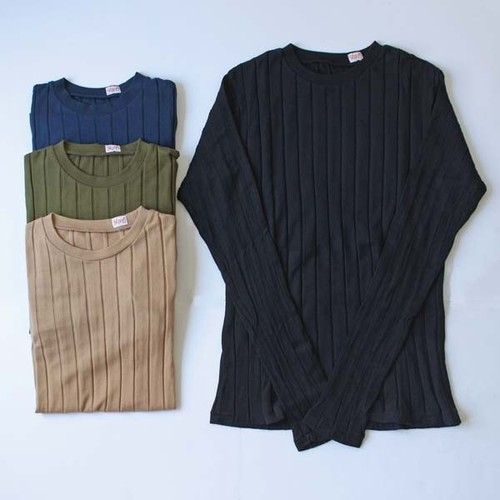 【YOUNG&OLSEN】 BROAD RIB CREW NECK L/S