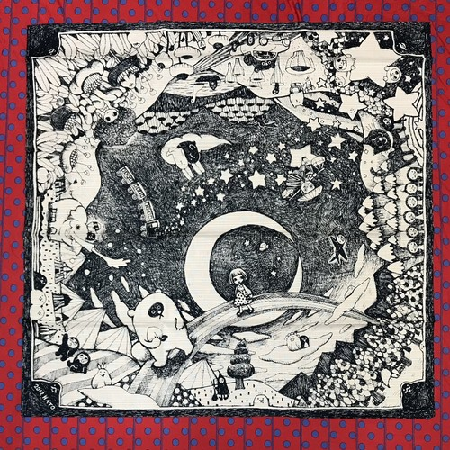 【風呂敷】星の夜の旅(70cmx70cm)