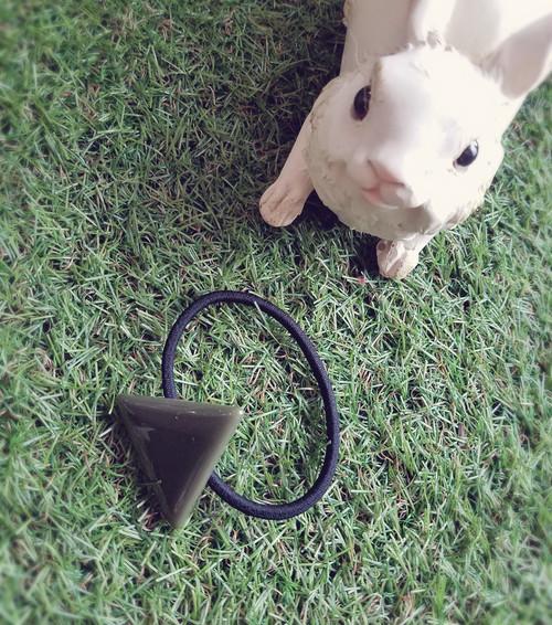 三角△シンプルなヘアゴム