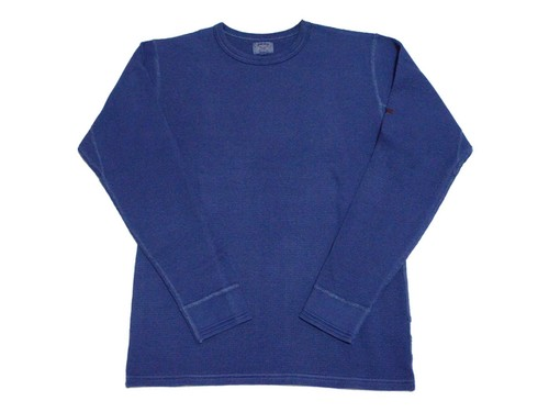 SMART SPICE・THERMAL CREW NECK INDIGO DYED L/S TEE