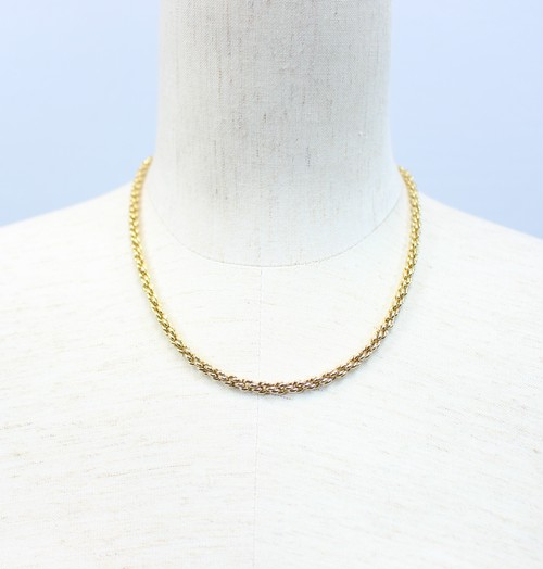 .Christian Dior GOLD CHAIN NECKRACE MADE IN GERMANY/クリスチャンディオールゴールドチェーンネックレス 2000000029542