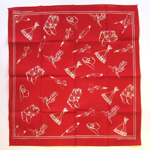 "FxCHRS Original Bandana ""Teepee Haven"", red"